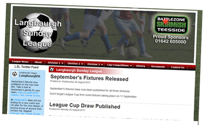 Langbaurgh Sunday League website