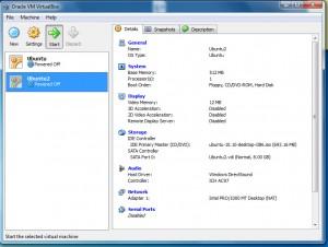 6 - Select virtual machine and click run